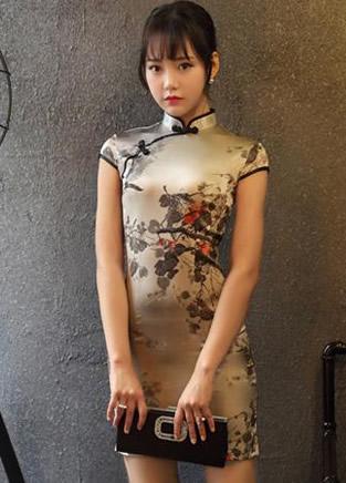 中国风旗袍 一朵绽放在灵魂深处的柔情之花