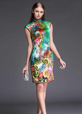 时尚摄影:当西方美女穿上中华旗袍