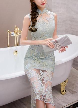 优雅性感的轻纱连衣裙风采,让人为之迷恋