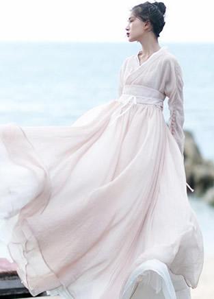 那些貌美如花的国风复古长裙子
