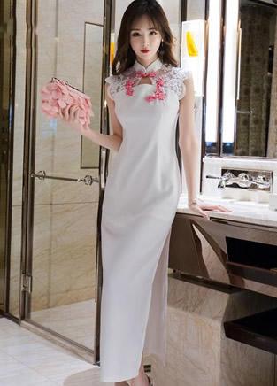 裙子好美!复古端庄与性感时尚旗袍连衣裙