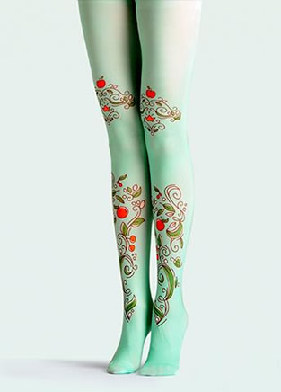 与众不同的创意印花丝袜,你能HOLD住第几款?