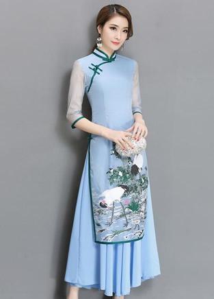 仙女旗袍裙,简约与奢华并存