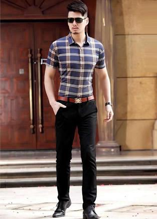 男士休闲裤搭T恤,万年不变的搭配黄金法则