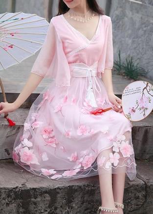 古典风连衣裙,优雅又小清新的连衣裙