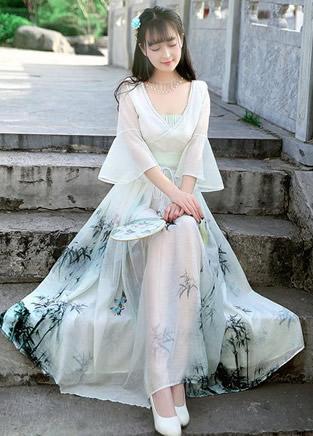 中国风复古连衣裙,淡雅如画让人迷醉