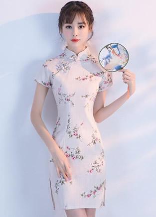 穿上中国风旗袍连衣裙,秒变温婉小家碧玉