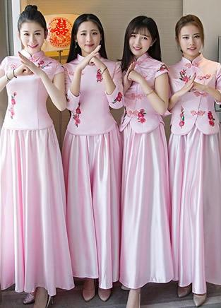 最美中式伴娘服 闺蜜婚礼姐妹团少不了