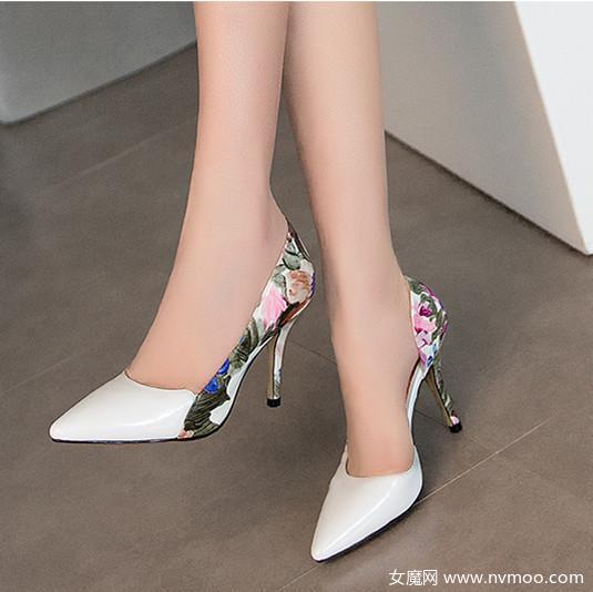优雅真皮尖头单鞋