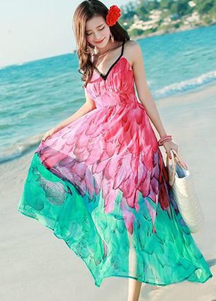 优雅迷人夏季连衣裙 沙滩风情更撩人